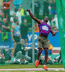 26.05.2018, Moeslestadion, Götzis, AUT, 45. Hypo Meeting Goetzis, Zehnkampf Herren, im Bild Lindon Victor (GRN) beim Discuswerfen // Lindon Victor of Grenada during the discus of the 45th Hypo Athletics Meeting at the Moeslestadion in Götzis, Austria on 2018/05/26. EXPA Pictures © 2019, PhotoCredit: EXPA/ Peter Rinderer