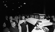 St Valentine Commemorated..1968..14.02.1968..02.14.1968..14th February 1968..On St Valentine's Day, the remains of the saint, which are kept in the Carmelite Church in Whitefriar Street, Dublin, are taken from the shrine to the high altar where a special Mass is celebrated.  ..Image shows the procession of the remains of St Valentine through the church in Whitefriar Street, Dublin.