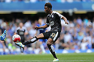 Demarai Gray of Leicester City in action. Barclays Premier league match, Chelsea v Leicester city at Stamford Bridge in London on Sunday 15th May 2016.<br /> pic by John Patrick Fletcher, Andrew Orchard sports photography.