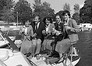 Galway Oyster Festival..1982.09.09.1982.09.09.1982.9th September 1982..Image of a group enjoying a tipple at The Festival which was held on the banks of the Shannon at Portumna Co.,Galway..It was held in the picturesque new marina. The event was sponsored by Guinness. Emerald Star line were also represented.Guinness and Oysters are sampled by Mr. Donal Morrissy Chairman of the Festival Committee, and by the Emerald Star 'Crew'..Guinness and Oysters are sampled by Mr. Donal Morrissy Chairman of the Festival Committee, and by the Emerald Star 'Crew'.