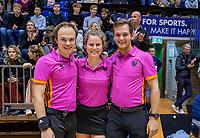 ROTTERDAM  -  scheidsrechters  Lorijn de Kraker<br /> Armand Triepels ,  finale NK  zaalhockey Rotterdam MA1-Den Bosch MA1 (4-0). Rotterdam Nederlands kampioen.    COPYRIGHT  KOEN SUYK