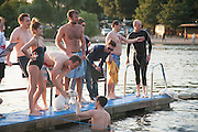 CHARLES FINCH'S CHUCS SWIMATHON 2013, SERPENTINE, Hyde Park, London. 4 July 2013.