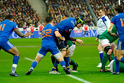 February 3, 2018 - Saint Denis, Seine Saint Denis, France - The Lock of French Team ARTHUR ITURRIA in action during the NatWest Six Nations Rugby tournament between France and Ireland at the Stade de France - St Denis - France...Ireland Won 15-13 (Credit Image: © Pierre Stevenin via ZUMA Wire)