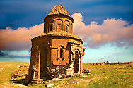 The Armenian church of St Gregory of the Abughamrents, Ani archaelogical site on the Ancient Silk Road , Kars , Anatolia, Turkey .<br /> <br /> If you prefer to buy from our ALAMY PHOTO LIBRARY  Collection visit : https://www.alamy.com/portfolio/paul-williams-funkystock/ani-turkey.html<br /> <br /> Visit our TURKEY PHOTO COLLECTIONS for more photos to download or buy as wall art prints https://funkystock.photoshelter.com/gallery-collection/3f-Pictures-of-Turkey-Turkey-Photos-Images-Fotos/C0000U.hJWkZxAbg