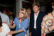 RACHEL JOHNSON; LEO JOHNSON, Book party for Janine di Giovanni's Ghosts by Daylight. Blake's Hotel. South Kensington. London. 12 July 2011. <br /> <br />  , -DO NOT ARCHIVE-© Copyright Photograph by Dafydd Jones. 248 Clapham Rd. London SW9 0PZ. Tel 0207 820 0771. www.dafjones.com.