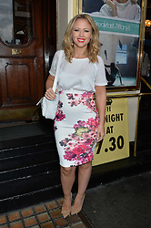 KIMBERLEY WALSH at the opening night of Breakfast at Tiffany's at The Theatre Royal, Haymarket, London on 26th July 2016.