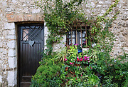 Charming house and plants, St Paul de Vence, Provance, France.