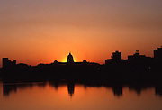 Sunrise, Skyline, Harrisburg, Pennsylvania, Susquehanna River