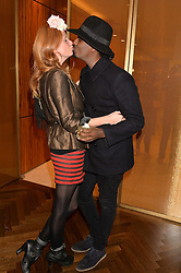 OLIVIA INGE and MASON SMILLIE at a party to celebrate the 15th anniversary of Myla held at the House of Myla, 8-9 Stratton Street, London on 21st October 2014.