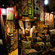 A Turkish carpet shop in Istanbul's historic Grand Bazaar.
