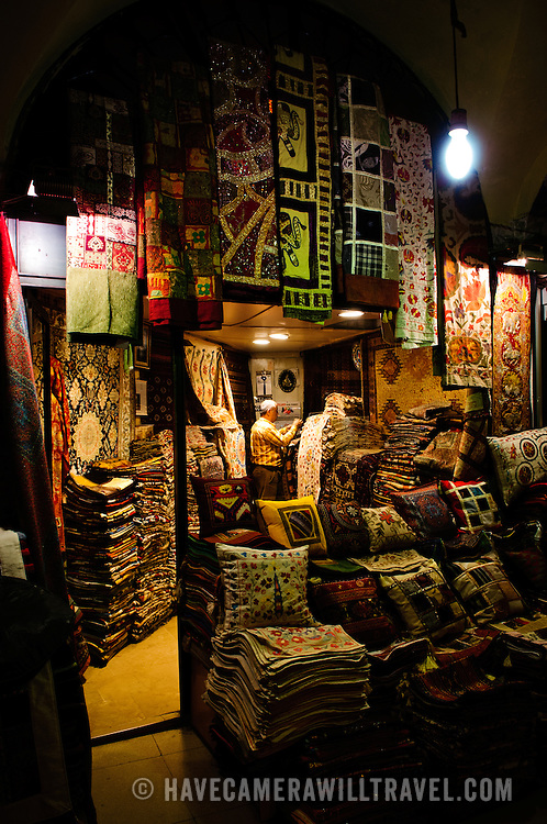 A Turkish carpet shop in Istanbul's historic Grand Bazaar.