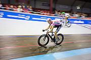 Pim Ligthart tijdens een koppelkoers. In Amsterdam vindt de Zesdaagse van Amsterdam plaats, een groots wielerevenement in het velodrome.<br /> <br /> Pim Ligthart at the Six Days of Amsterdam, a major cycling event in the velodrome.