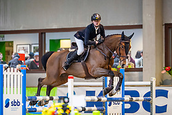 Swinnen Lander, BEL, Livingstone E<br /> Klasse Licht<br /> Nationaal Indoor Kampioenschap Pony's LRV <br /> Oud Heverlee 2019<br /> © Hippo Foto - Dirk Caremans<br /> 09/03/2019