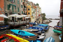 Boats,  Riomaggiore, Cinque Terre, UNESCO World Heritage Site, Italy