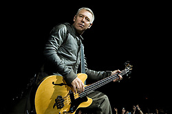 Adam Clayton, U2  Bass guitarist performs with the band during their 2009  360 tour at Sheffield  Don Valley Stadium 20 August