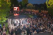 Serpentine Summer party 2012 sponsored by Leon Max. Pavilion designed by Herzog & de Meuron and Ai Weiwei. Kensington Gardens. London. 26 June 2012.