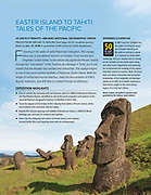 Easter Island moai statues published in Lindblad Expeditions magazine.
