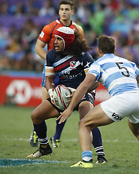 April 8, 2018 - Hong Kong, HONG KONG - Folau  Niua (7) of the United States shown against Argentina during the 2018 Hong Kong Rugby Sevens at Hong Kong Stadium in Hong Kong. (Credit Image: © David McIntyre via ZUMA Wire)
