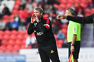 Grant McCann of Doncaster Rovers (Manager) shouts instructions to his players during the EFL Sky Bet League 1 match between Doncaster Rovers and Gillingham at the Keepmoat Stadium, Doncaster, England on 20 October 2018.
