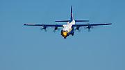 Blue Angels' Fat Albert demonstrating a rapid descent landing at the Oregon International Airshow.