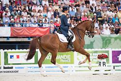 Adelinde Cornelissen, (NED), Jerich Parzival NOP - Freestyle Grand Prix Dressage - Alltech FEI World Equestrian Games™ 2014 - Normandy, France.<br /> © Hippo Foto Team - Jon Stroud<br /> 25/06/14