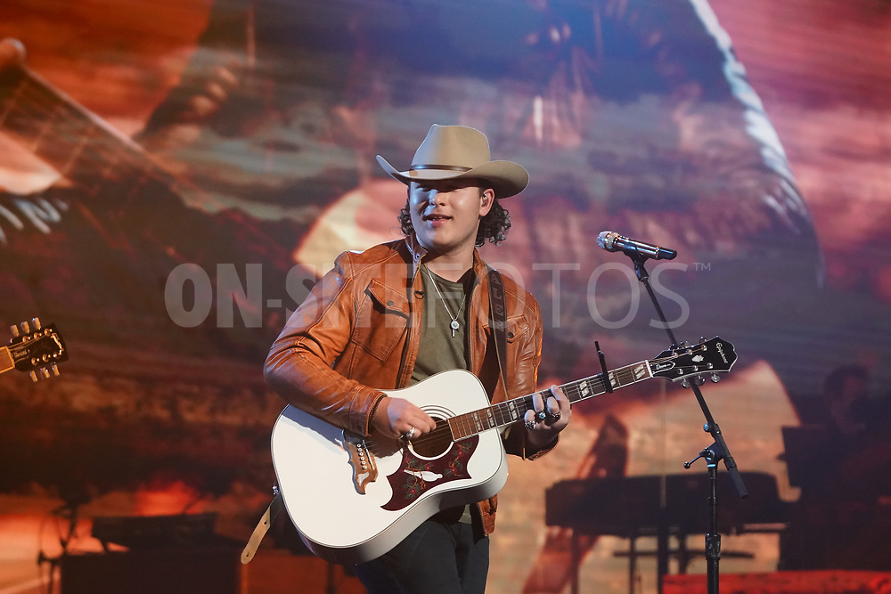 """AMERICAN IDOL – """"414 (Oscar Nominated Songs)"""" – The top 12 contestants perform Oscar®-nominated songs in hopes of securing America's vote into the top nine on an all-new episode of """"American Idol,"""" airing live coast-to-coast on SUNDAY, APRIL 18 (8:00-10:00 p.m. EDT), on ABC. (ABC/Eric McCandless)<br /> CALEB KENNEDY"""