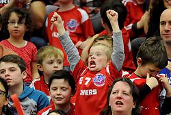 Bristol Flyers fans celebrate  - Mandatory byline: Dougie Allward/JMP - 11/12/2015 - Basketball - SGS Wise Campus - Bristol, England - Bristol Flyers v Plymouth Raiders - British Basketball League