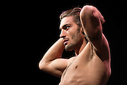 DALLAS, TX - MARCH 13:  Elias Theodorou stands on the scale during the UFC 185 weigh-ins at the Kay Bailey Hutchison Convention Center on March 13, 2015 in Dallas, Texas. (Photo by Cooper Neill/Zuffa LLC/Zuffa LLC via Getty Images) *** Local Caption *** Elias Theodorou