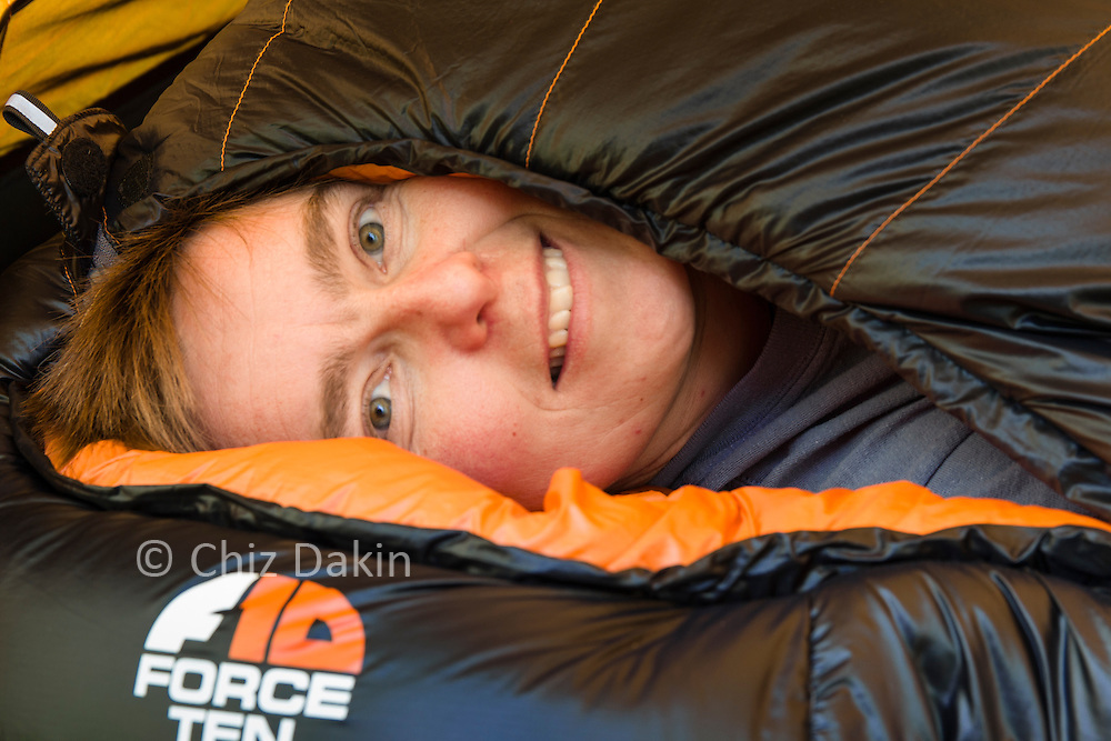 Test pitch of F10 Argon 200 tent and Endurance 1300 sleeping bag