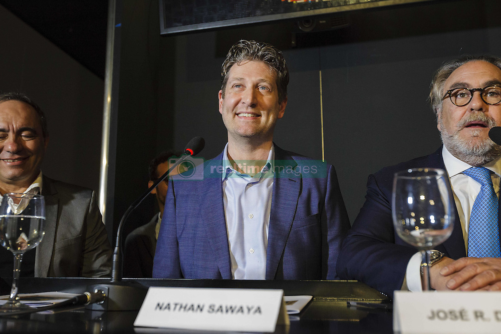 December 9, 2016 - Rome, Italy - Nathan Sawaya attends a press conference during 'The Art Of The Brick' exhibition preview at the Auditorium Parco della Musica in Rome, Italy. The exhibition opens to the public on December 9 and runs until February 26, 2017. Nathan Sawaya is an American-based artist who builds custom three-dimensional sculptures and large-scale mosaics from popular everyday items and is best known for his work with standard LEGO toy bricks. (Credit Image: © Giuseppe Ciccia/Pacific Press via ZUMA Wire)
