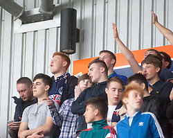 South stand. Falkirk 1 v 2 Hibernian, the first Scottish Championship game of season 2016/17, played 6/8/2016 at The Falkirk Stadium. Pics by © Ross Schofield