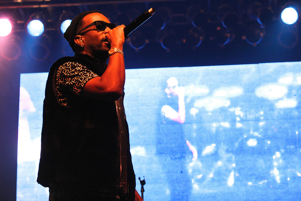 Juicy J performing at the WGCI Big Jam at the Aragon Ballroom in Chicago on November 8, 2014.