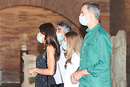 Queen Letizia of Spain visit to the National Museum of Roman Art on July 22, 2020 in Merida, Spain