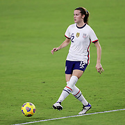 ORLANDO, FL - JANUARY 22:  Tierna Davidson #12 of United States controls the ball against Colombia at Exploria Stadium on January 22, 2021 in Orlando, Florida. (Photo by Alex Menendez/Getty Images) *** Local Caption *** Tierna Davidson