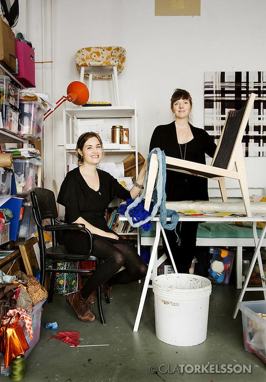 Butler & Lindgård, textile designers.<br /> Photo by Ola Torkelsson ©<br /> Copyright Ola Torkelsson