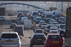 © Licensed to London News Pictures. 04/11/2020. London, UK. Long queues of cars at noon on the A205 at Greenwich heading in to north London, ahead of a second national lockdown later this week. Strict measures are due to be re-introduced in an attempt to fight a second wave of the COVID-19 strain of Coronavirus. Photo credit: Marcin Nowak/LNP