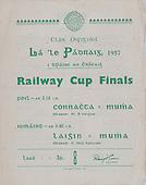 17.03.1957 Railway Cup Football Final