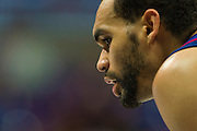 FORT WORTH, TX - FEBRUARY 6: Perry Ellis #34 of the Kansas Jayhawks looks on against the TCU Horned Frogs on February 6, 2016 at the Ed and Rae Schollmaier Arena in Fort Worth, Texas.  (Photo by Cooper Neill/Getty Images) *** Local Caption *** Perry Ellis
