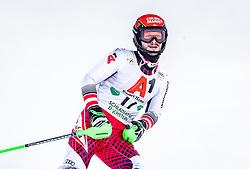 "29.01.2019, Planai, Schladming, AUT, FIS Weltcup Ski Alpin, Slalom, Herren, 2. Lauf, im Bild Christian Hirschbuehl (AUT) // Christian Hirschbuehl of Austria reacts after his 2nd run of men's Slalom ""the Nightrace"" of FIS ski alpine world cup at the Planai in Schladming, Austria on 2019/01/29. EXPA Pictures © 2019, PhotoCredit: EXPA/ JFK"