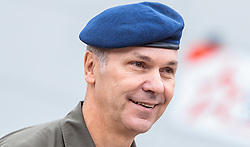 "02.11.2016, Biathlonarena, Hochilzen, AUT, IBU Weltmeisterschaft Biathlon, Hochfilzen, Pressekonferenz 100 Tage, im Bild General Major Mag. Andreas Pernsteiner (Österreichisches Bundesheer) // Generalmajor Mag. Andreas Pernsteiner (Austrian Armed Forces) during a Pressconference ""100 Days"" in front of the IBU Biathlon World Championships 2017 at the Biathlonarena, Hochfilzen, Austria on 2016/11/02. EXPA Pictures © 2016, PhotoCredit: EXPA/ JFK"