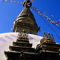 Asia, Nepal, Kathmandu. The Swayambhunath Stupa is one of the most sacred Buddhist sites in Nepal.