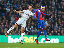 January 13, 2018 - London, England, United Kingdom - Crystal Palace's Christian Benteke (Right)..during Premier League  match between Crystal Palace and Burnley at Selhurst Park Stadium, London,  England on 16 Jan 2018. (Credit Image: © Kieran Galvin/NurPhoto via ZUMA Press)