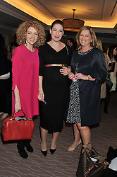 Left to right, JULIA YULE, CHRISTINA MOSS and LINDA KEY at the Cosmetic Executive Women (CEW) UK Beauty Awards 2012 held at the Intercontinental Hotel, Hamilton Place, London on 27th March 2012.