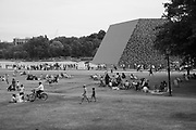 Christo sculpture on the Serpentine, ,Barrels and the Mastaba 1958 - 2018. 23 June 2018