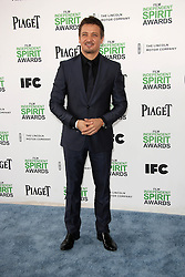 Jeremy Renner at the 2014 Film Independent Spirit Awards Arrivals, Santa Monica Beach, Santa Monica, United States, Saturday, 1st March 2014. Picture by Hollywood Bubbles / i-Images<br /> UK ONLY