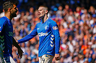 Ryan Kent of Rangers FC comes close to making it 3 during the Ladbrokes Scottish Premiership match between Rangers and Celtic at Ibrox, Glasgow, Scotland on 12 May 2019.