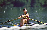 Lucerne, SWITZERLAND.  NZL LW1X Philippa BAKER  1988  Lucerne International Regatta, Lake Rotsee. June 1988 [Mandatory Credit - Peter Spurrier/Intersport Images] 1988 Lucerne International Regatta