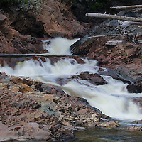 """""""Chippewa Falls""""<br /> <br /> Wonderful flowing water and rock formations at Chippewa Falls in Ontario, Canada!"""