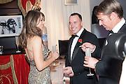 ELIZABETH HURLEY; DAVID FURNISH; SHANE WARNE, Grey Goose Winter Ball to benefit the Elton John Aids Foundation. Battersea Power Station. London. 10 November 2012.
