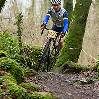 Anthony O'Halloran from Burren CC coming over some rocky terrain during the Ennis CX Cyclocross Race at Lees Rd, Ennis